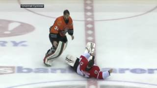 Goalie Fight Ends With One-punch Knockout