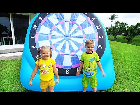 Diana and Roma play Outdoor Games &amp Activities for kids