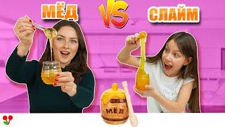 СЛАЙМЫ ПРОТИВ ОБЫЧНОЙ ЕДЫ Челлендж / Вики Шоу