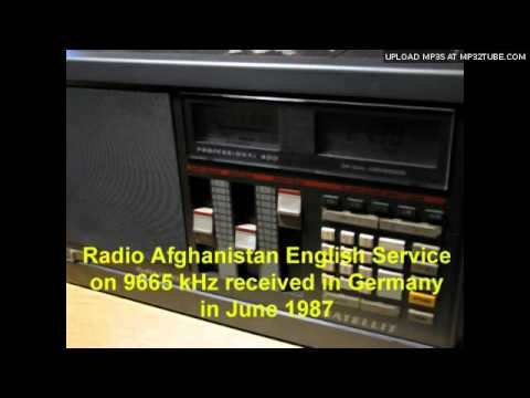 Vintage DX: Radio Afghanistan English Service received in Germany (1987)