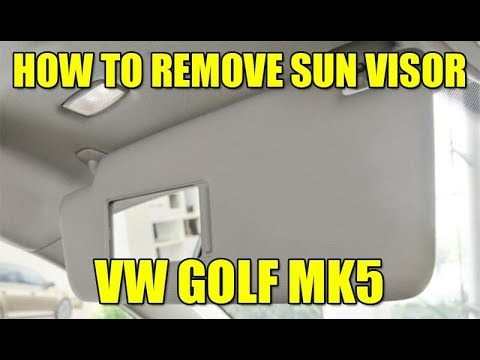 How To Remove Sun Visor On Vw Golf Mk5 Jetta Pat Polo In 4 Steps