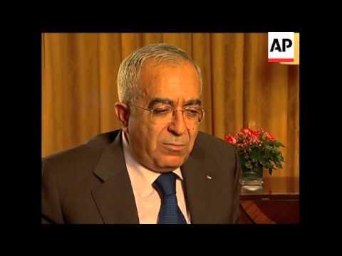 Palestinian PM Salam Fayyad on statehood plan, peace talks