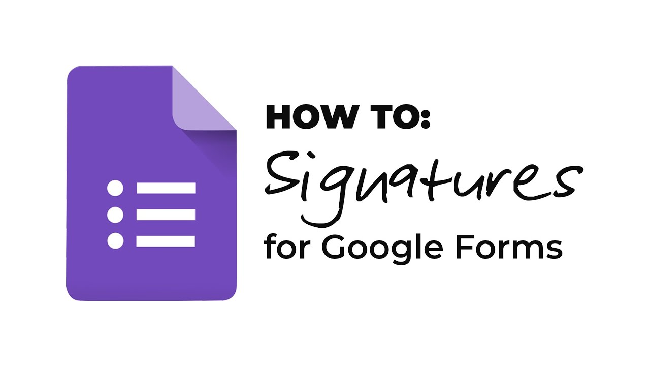 How To Signature Add On For Google Forms Youtube