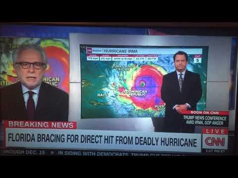 Trump has that demon voice on CNN. Blooper during Hurricane Irma update 09072017
