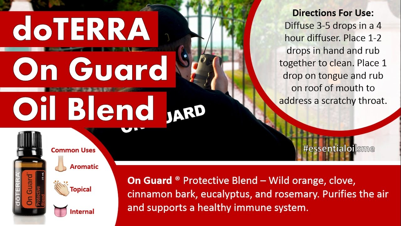 how to use on guard essential oil