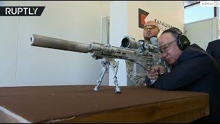 Putin gets up-close and personal with new Kalashnikov sniper rifle
