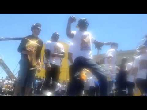 Warriors Team Dance-Off At Warriors Parade Rally Oakland