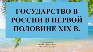 Баскова А.В./ ИОГиП / Государство в России в первой половине XIX в.