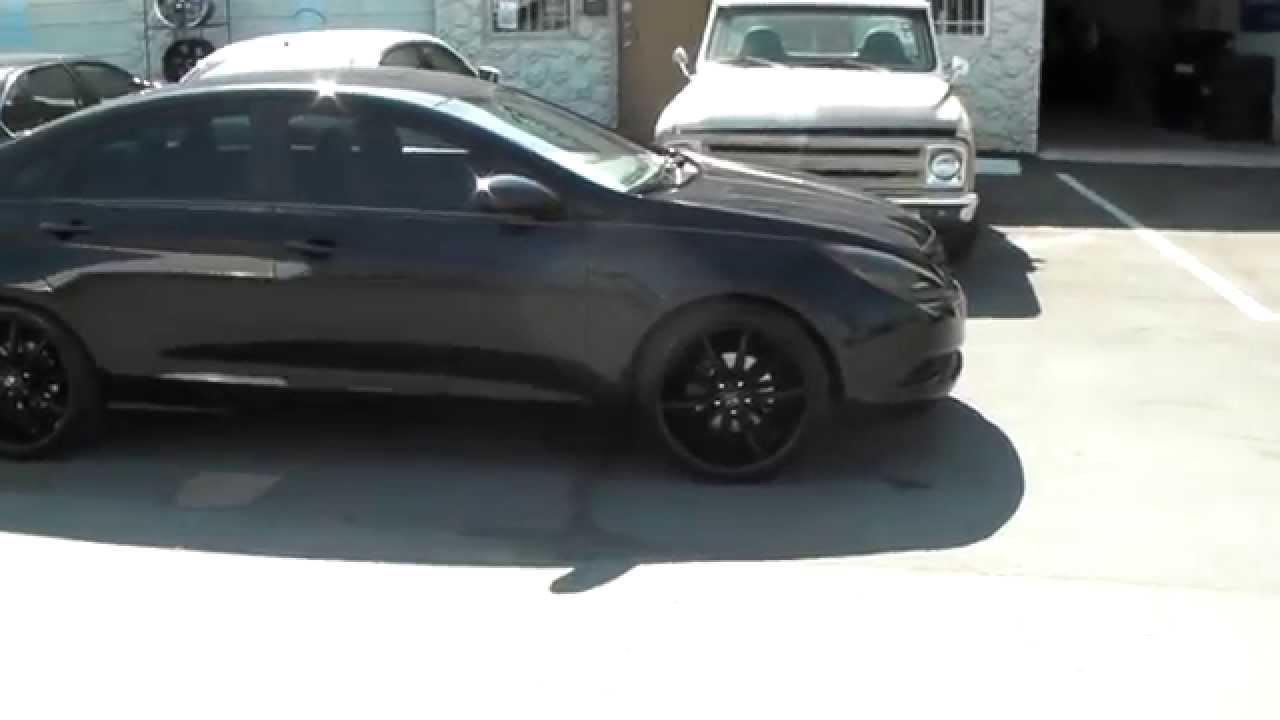 877 544 8473 18 Inch Lorenzo Wl32 Black Rims 2017 Hyundai Sonata Blacked Out Free Shipping You