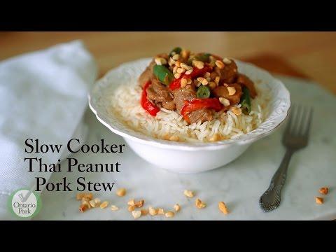 Thai Peanut Pork Stew - Slow Cooker Recipe