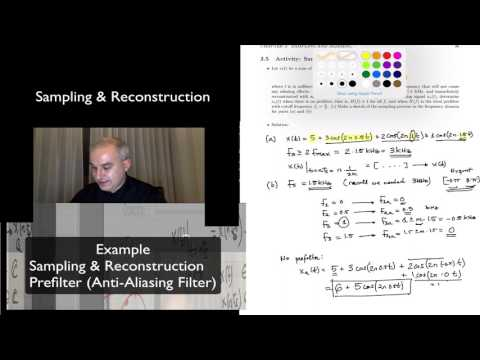 DSP Topic 3: Example of Sampling, Pre-Filtering & Aliasing