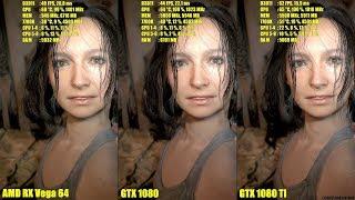 Resident Evil 7 AMD RX Vega 64 Vs GTX 1080 Vs GTX 1080 TI Frame Rate  Comparison by DudeRandom84