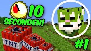 Minecraft maar TNT Spawnt Elke 10 Seconden - Minecraft TNT Speedrun #1