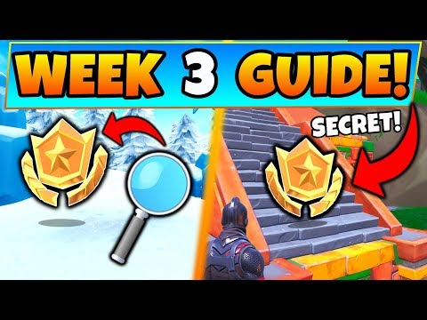 Fortnite WEEK 3 CHALLENGES GUIDE! - Search Where the Magnifying Glass Sits (Battle Royale Season 8) thumbnail