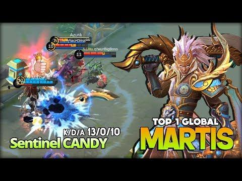 Undead Martis with Brutal Roaming! Sentinel CANDY Top 1 Global Martis ~ Mobile Legends
