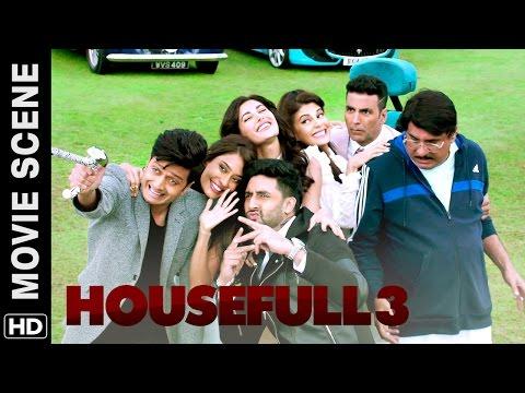 Akshay, Riteish, Abhishek meet Boman | Housefull 3 | Movie Scene