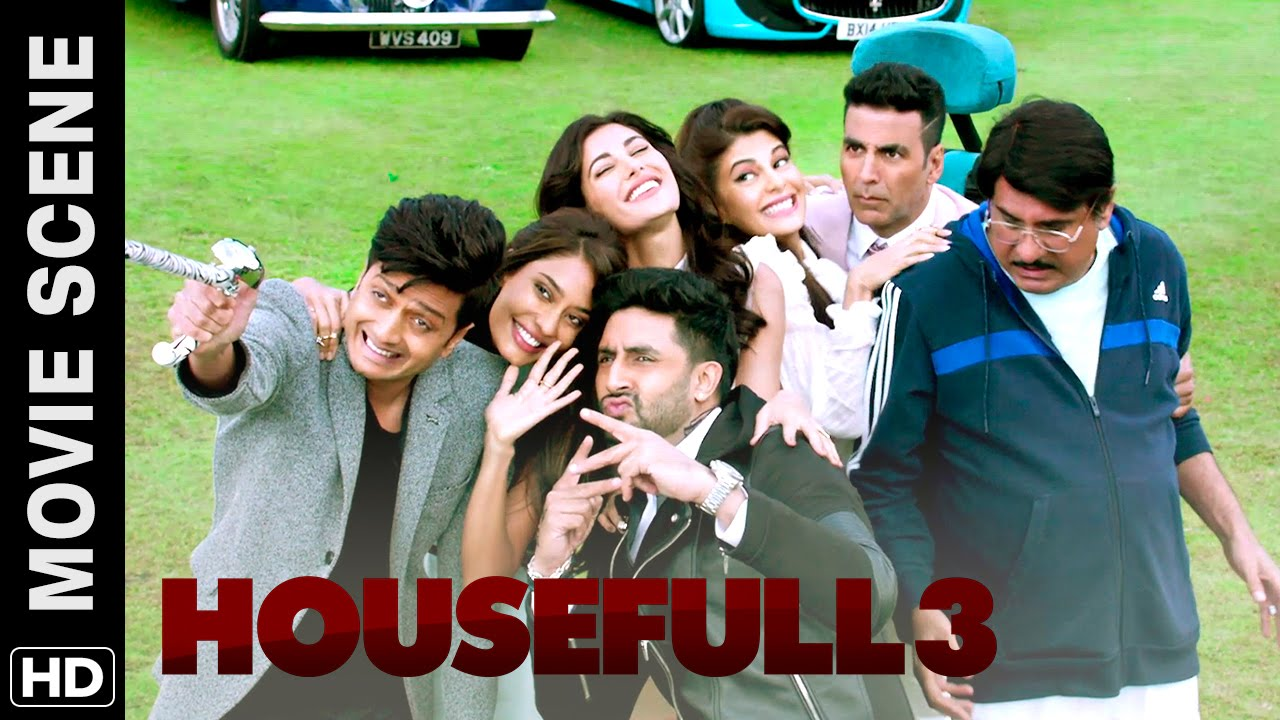 Akshay Riteish Abhishek Meet Boman Housefull 3 Movie Scene