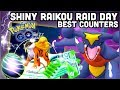 SHINY RAIKOU RAID DAY IN POKEMON GO | BEST COUNTERS | 1/2 EGGS DISTANCE & MORE