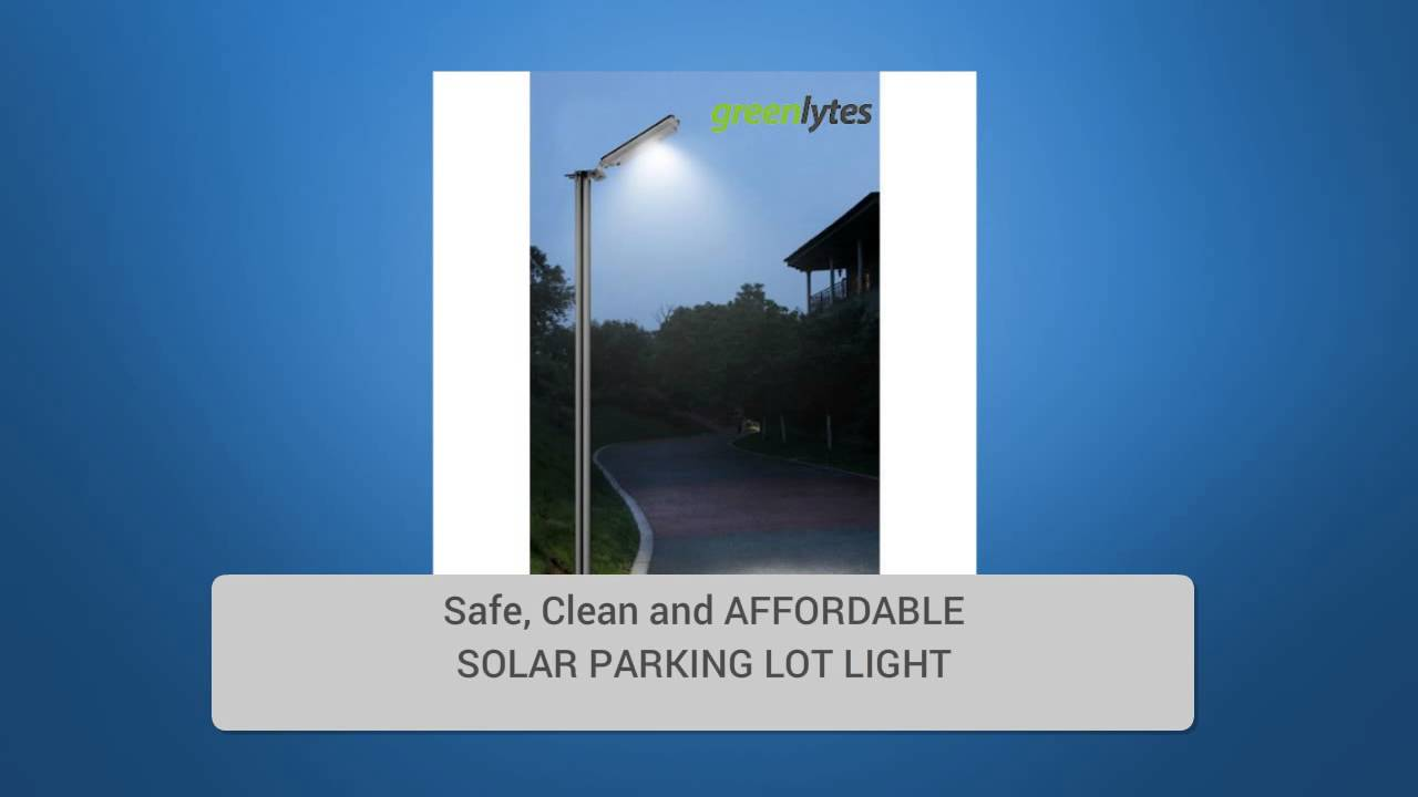 Commercial solar security light solar parking lot lights youtube arubaitofo Images