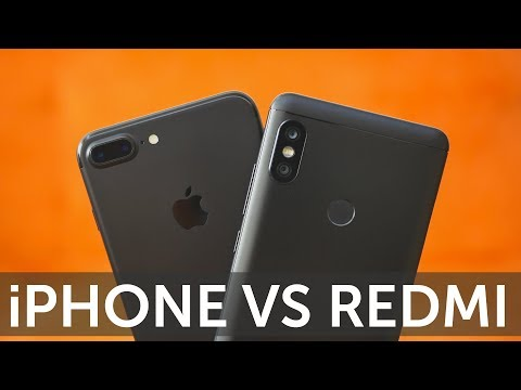 Сравнение камер iPhone 7 Plus vs Xiaomi Redmi Note 5 фотографии и видео 4K