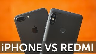 Сравнение камер iPhone 7 Plus vs Xiaomi Redmi Note 5 фотографии и видео 4K