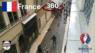 ⚽🏆🇫🇷 360° Lyon Ultras vs England Fans | Lyon, France