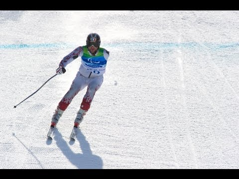 Giant slalom standing second run - alpine skiing - Vancouver 2010 Winter Paralympics