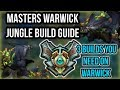 3 BUILDS YOU NEED FOR WARWICK JUNGLE - Build Guide (Items, Runes, Masteries) - League of Legends