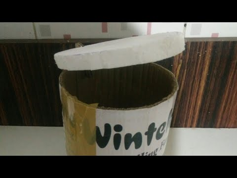How to make mini  dustbin at home by new creative
