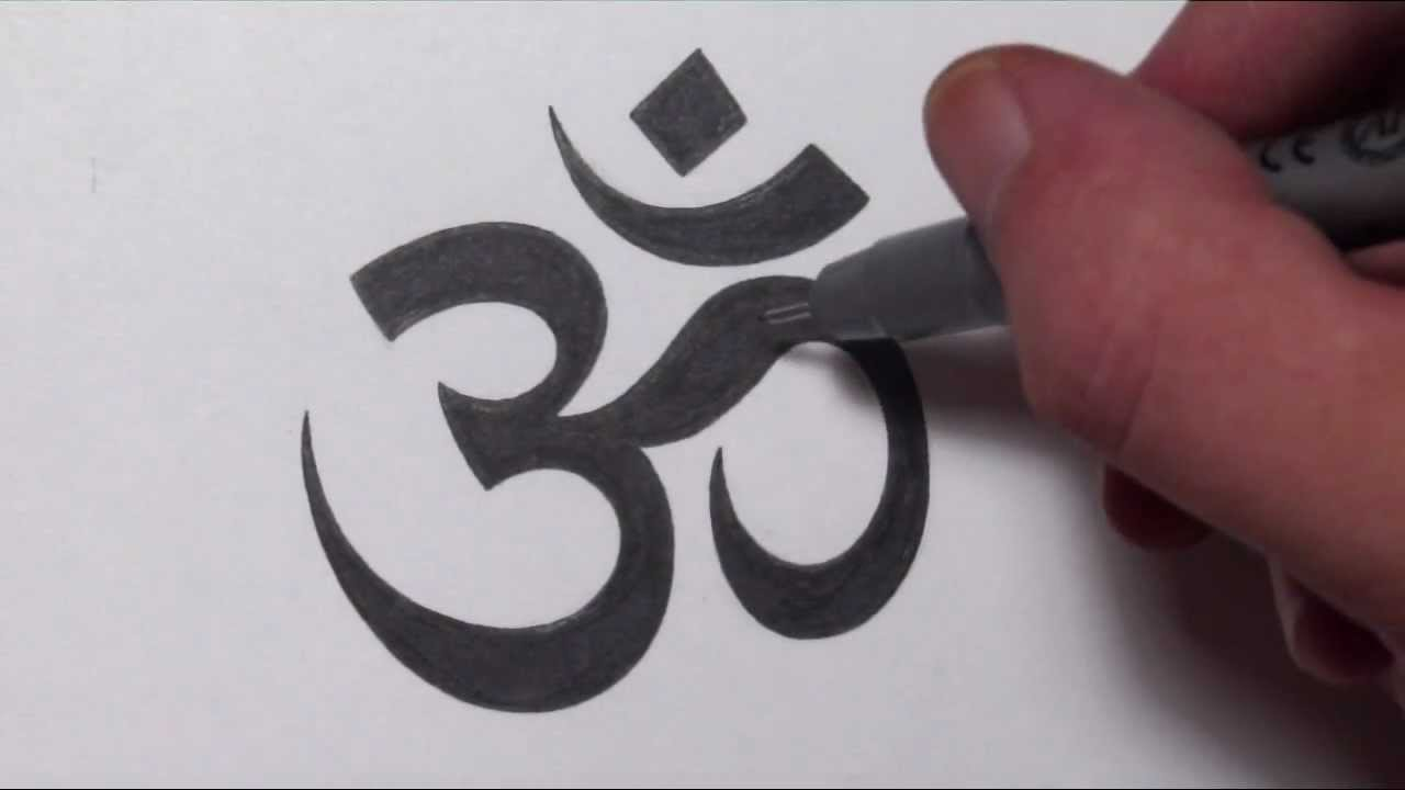 How To Draw An Om Symbol Youtube