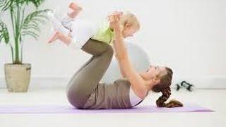 Убрать живот после родов видео. Силовая тренировка с ребенком.(На видео фитнес с ребенком до года, простые упражнения для молодых мам. Видео с канала AnnaVanlee. Больше информа..., 2014-11-23T06:59:49.000Z)