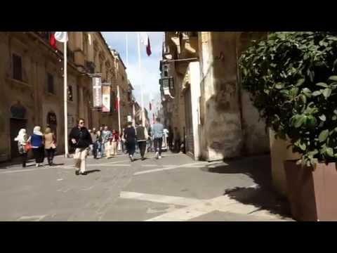MALTA Valletta Main Street [HD] 2014 (Republic street)