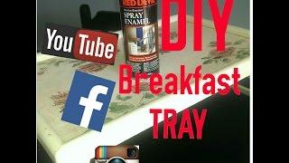 Diy Brown Breakfast Tray