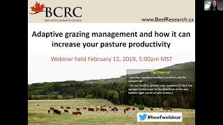 Adaptive Grazing and Grazing Management Webinar