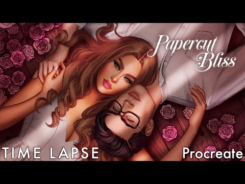 """Time Lapse: """"Papercut Bliss"""" Cover Episode Interactive - Digital Painting Procreate"""
