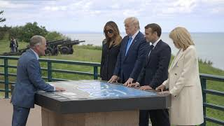 First Lady Melania Trump Attends 75th Anniversary Ceremony of D-Day