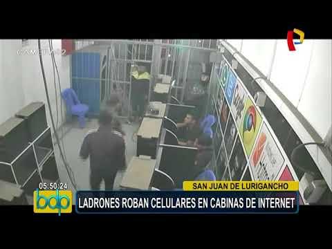 San Juan de Lurigancho: ladrones roban celulares en cabina de Internet