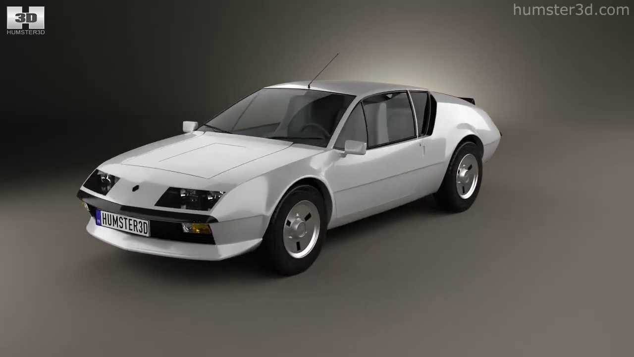 renault alpine a310 1976 by 3d model store youtube. Black Bedroom Furniture Sets. Home Design Ideas