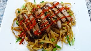 Thai Inspired Sesame Fried Noodles, Easy Recipe,