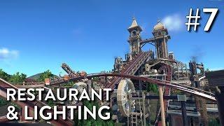 Planet Coaster: Boneshaker (Part 7) - Restaurant & Lighting