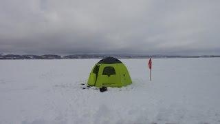 北海道・網走湖で初めてのワカサギ釣り!