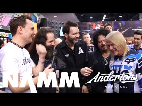 Paul Gilbert, Steve Lukather, John Petrucci, Steve Morse Crash Ernie Ball at NAMM