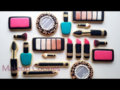 How To Decorate Makeup Cookies With Royal Icing!