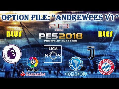 PES 2018 PS3 Option File by AndrewPES [Downloads]