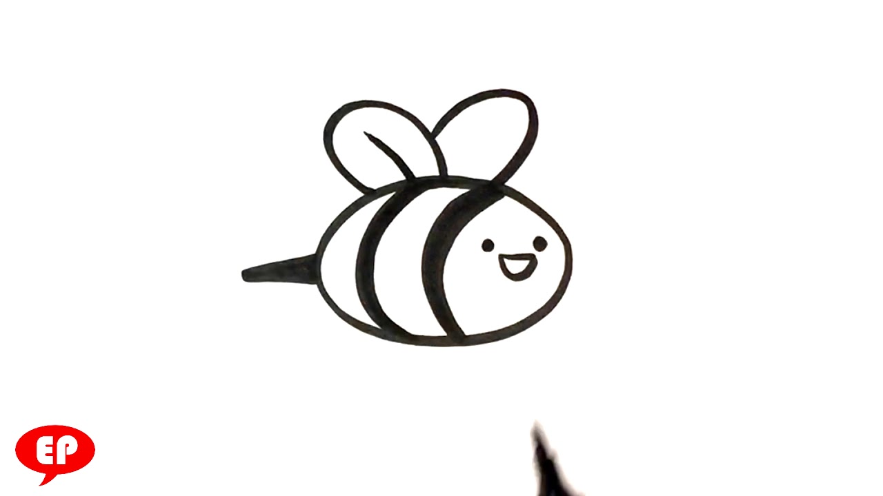 How To Draw A Bee Cute Easy Pictures To Draw Youtube