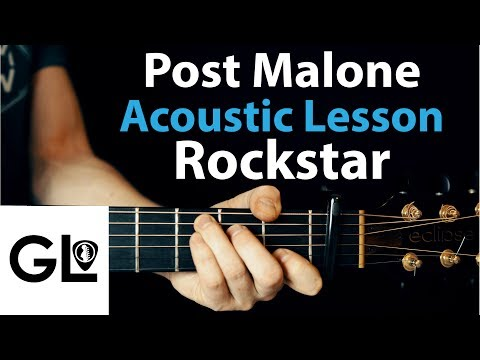 Rockstar - Post Malone: Acoustic Guitar Lesson EASY No Capo/Capo 🎸