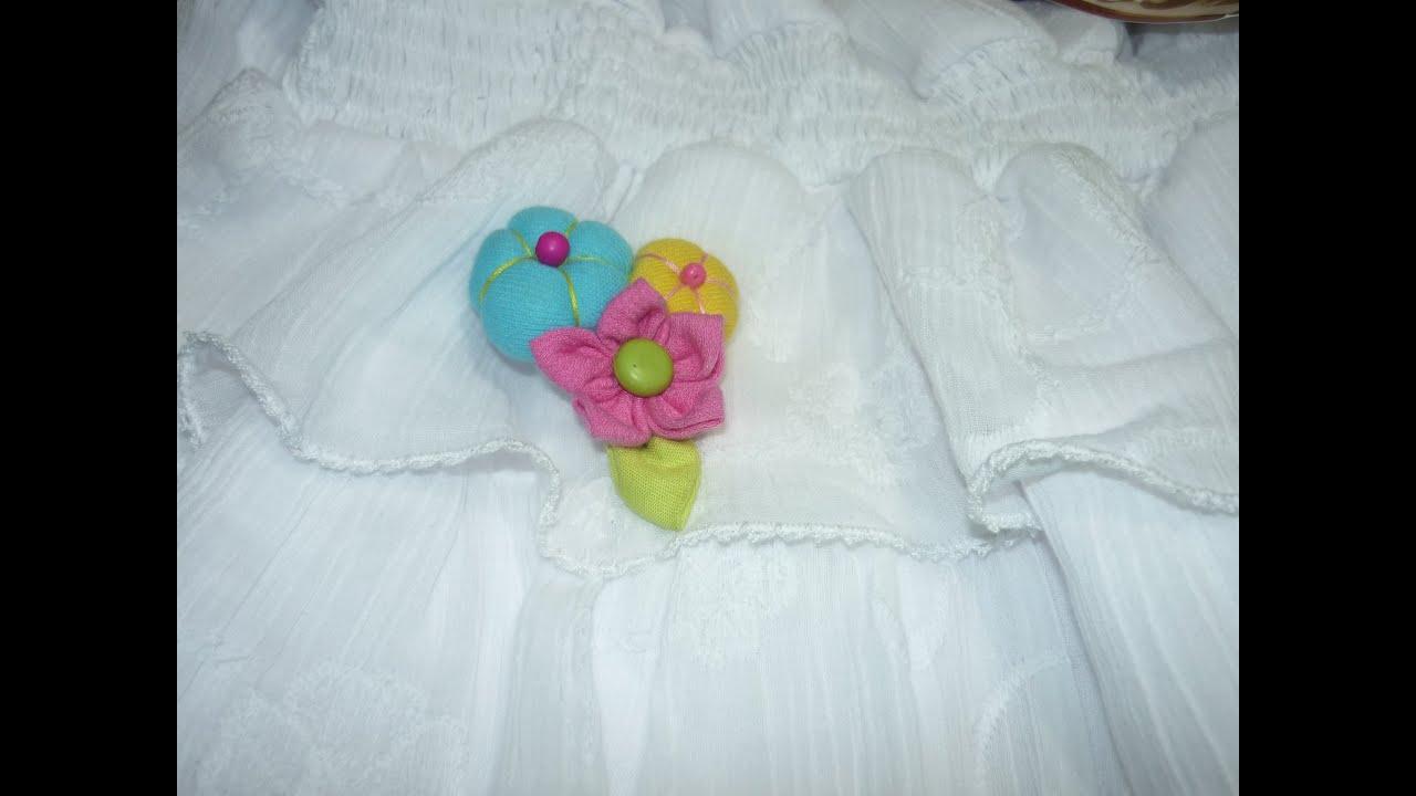Como hacer flores elegantes en tela para broches broche - Para hacer manualidades ...