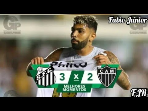 Santos 3 x 2 Atlético-MG | Melhores Momentos & gols (HD) - 24/11/2018 - Brasileirão