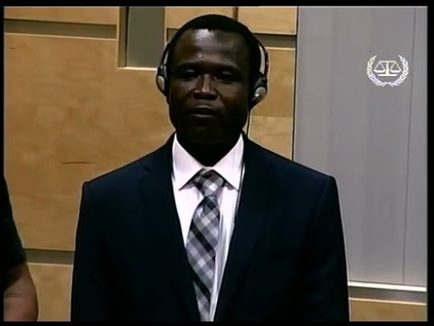 Dominic Ongwen appears at the International Criminal Court
