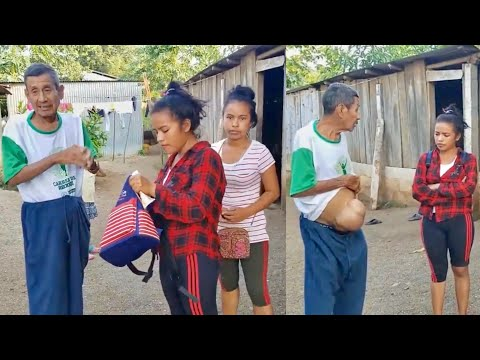 YAKI y DANIELITA Visitan Su Tio Enfermo le Llevan Ayuda